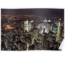 Amazing City Lights of Manhatten Poster