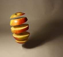 Floating apple sections by David Cooper