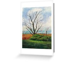 The Elm and The Red Bird Greeting Card