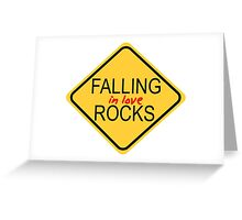 Falling in love rocks Greeting Card
