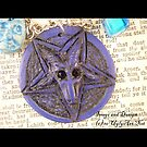 Blue Velvet Baphomet Necklace  by uglyshyla