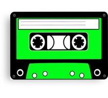 Green cassette Canvas Print