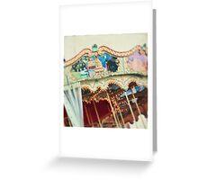 carousel 3 Greeting Card