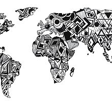 World Map in a mathematician universe by monicamarcov