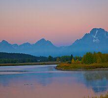 Sunrise In The Tetons! by Luann wilslef
