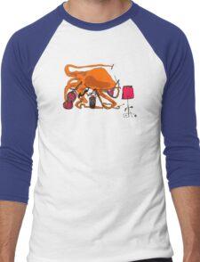 Playful Octopus Men's Baseball ¾ T-Shirt