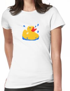 Duck! Womens Fitted T-Shirt