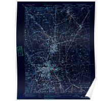 Massachusetts  USGS Historical Topo Map MA Providence 352968 1894 62500 Inverted Poster