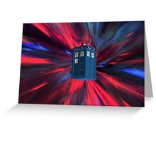 Doctor Blue Box Greeting Card