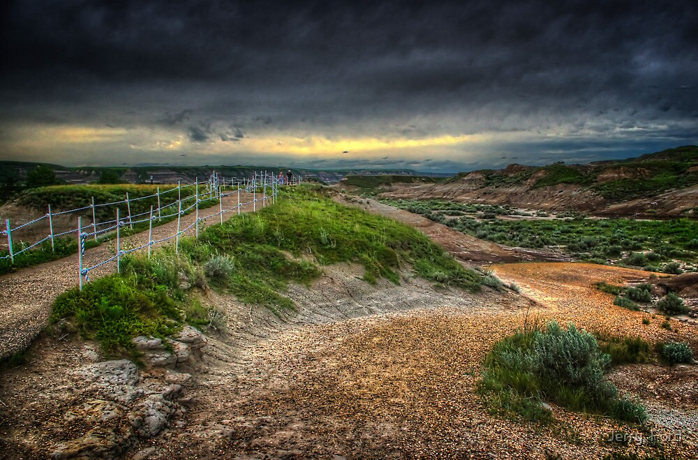 Path Through Badlands by Myron Watamaniuk