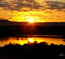 Sunrise over Port Augusta by Julia Harwood