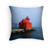 Sturgeon Bay Canal North Pierhead Light © Throw Pillow