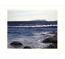 Pic Island in the Distance - Lake Superior - Marathon Ontario Canada Art Print