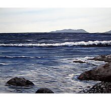 Pic Island in the Distance - Lake Superior - Marathon Ontario Canada Photographic Print