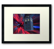 Tardis of the 3rd and 4th Framed Print