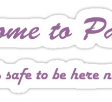 Welcome to Pawnee Sticker