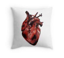 Anatomical Heart Illustration  Throw Pillow