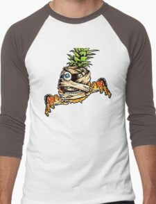 Mummified Pineapple Monster Men's Baseball ¾ T-Shirt