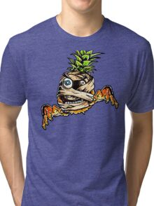 Mummified Pineapple Monster Tri-blend T-Shirt
