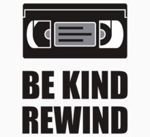 VHS Cassette Tape Be Kind Rewind by AmazingMart