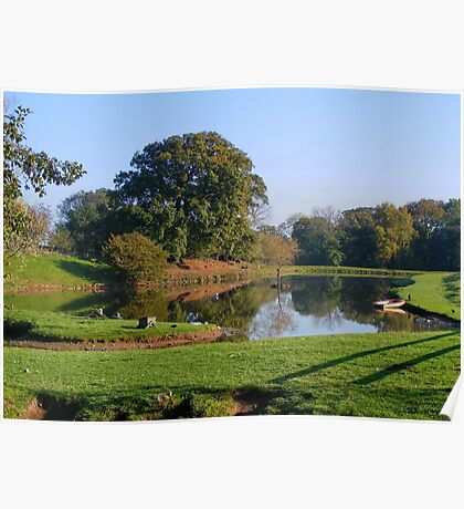 Cotebrook Shire Horse Centre Lake in Autumn Poster