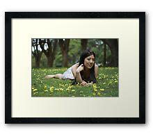 Japanese Flower Girl Framed Print