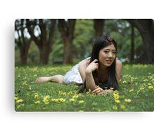 Japanese Flower Girl Canvas Print