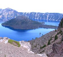 Wizard Island Crater Lake by Pam2t1968
