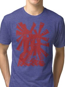 Quixote - Windmills and giants Tri-blend T-Shirt
