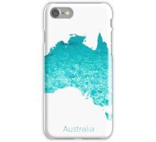Australia map Ocean iPhone Case/Skin