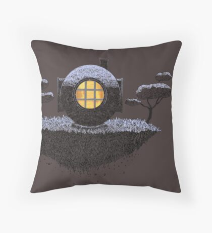 Floating Diver Home Sweet Home Throw Pillow