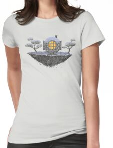 Floating Diver Home Sweet Home Womens Fitted T-Shirt