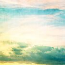 Pastel Abstract Sky by Nicola  Pearson