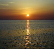 Sunset Across The Bay by RebeccaBlackman