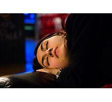 theatre, a girl sleeping Photographic Print