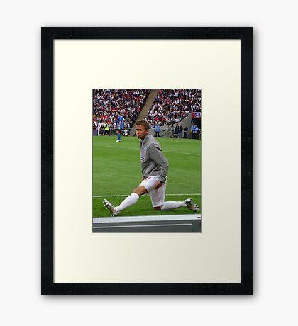 Beckham Warm Up Framed Print