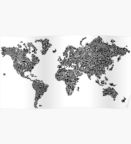 World Map of Stereotypes Poster