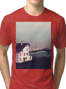 Castle in the Mountains Tri-blend T-Shirt
