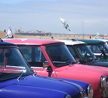 Minis in front of Brighton's East Pier. by ThatsAndy