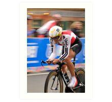 UCI 2010 Fabian Cancellara with his fourth world title part 1 Art Print