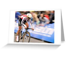 UCI 2010 Fabian Cancellara with his fourth world title part 2 Greeting Card