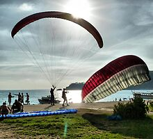 Paragliding . by Lilian Marshall