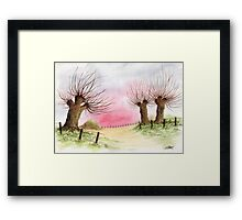 WILLOW TREES Framed Print