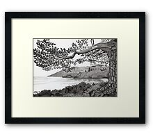 From A Photo Of Karl Williams - Pen Drawing Framed Print