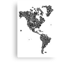 America Map Canvas Print
