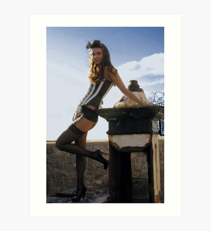 scrap and corset fashion  Art Print