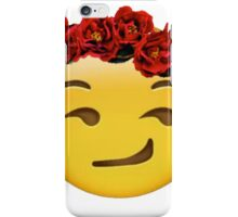 smirk emoji crown iPhone Case/Skin