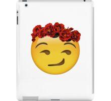 smirk emoji crown iPad Case/Skin