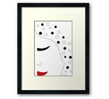 WOMAN IN BLACK Framed Print