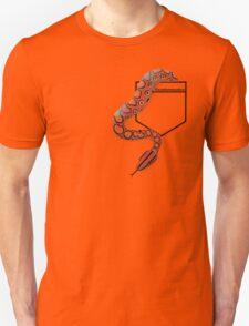 Brazilian Rainbow Boa in Pocket Teeshirt. Light Design T-Shirt